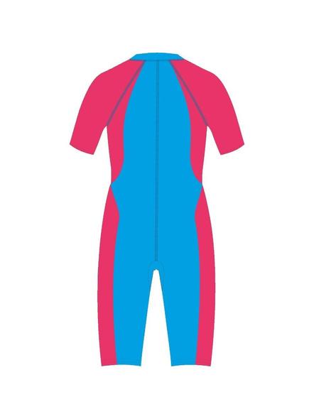 Tyr Kids In Aerofit Kneesuit Swim Costumes Girls Legsuit (colour May Vary)-Cobalt/oasis Black-26-1