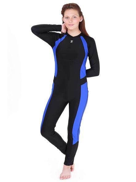 Tyr Aerofit Divesuit Swim Costumes Ladies 1 Pcs Body Suit Frill-24623