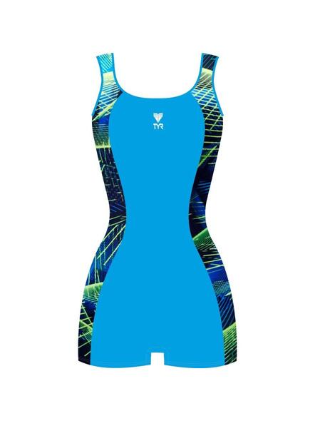 Tyr Girls In Aerofit Legsuit Swim Costumes Ladies Kneesuit (colour May Vary)-24662