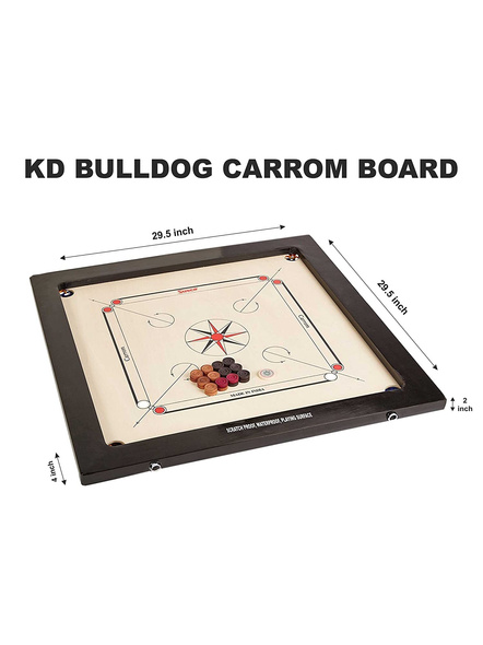 Precise Bulldog Elegant Carrom Board-28 MM-1 Unit-1