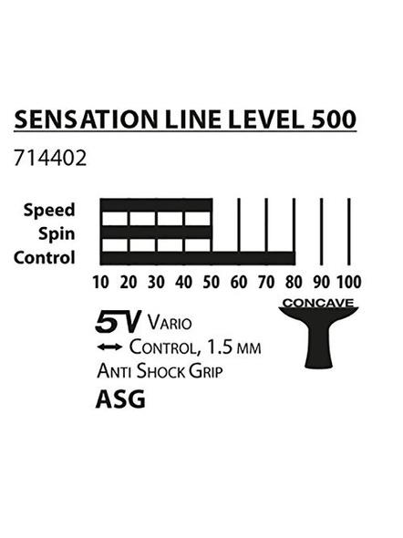 Donic Sensation Line 500 Table Tennis Bat ( Black, 86 Grams, All-rounder )-1 Unit-2