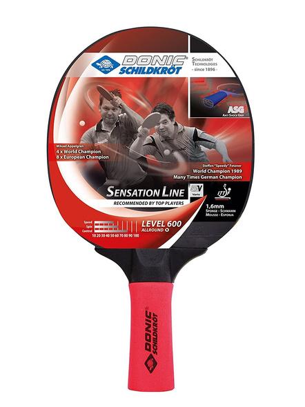 Donic Sensation Line 600 Table Tennis Bat ( Red / Black, 80 Grams, All-rounder )-2266