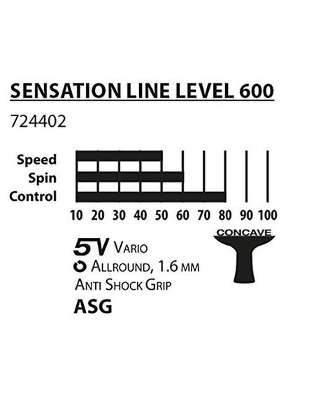 Donic Sensation Line 600 Table Tennis Bat ( Red / Black, 80 Grams, All-rounder )-1 Unit-2