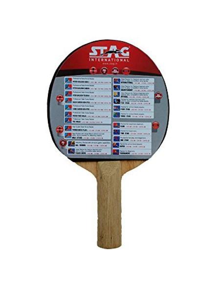 Stag Club Table Tennis Racquet( Multi- Color, 166 Grams, Beginner )-1 Unit-1