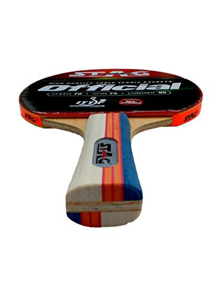 Stag Official Table Tennis Racquet( Multi- Colour, 180 Grams, Intermediate )-1 Unit-2