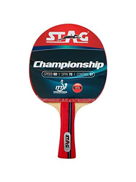 Stag Championship Table Tennis Racquet( Multi- Color, 172 Grams, Intermediate )-973