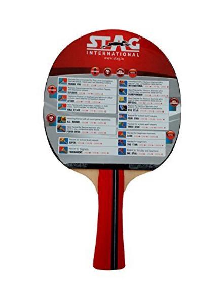 Stag Championship Table Tennis Racquet( Multi- Color, 172 Grams, Intermediate )-1 Unit-1