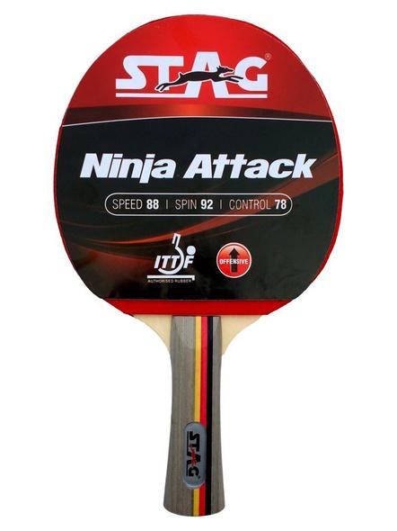 Stag Ninja Attack Table Tennis Racquet( Multi- Color, 180 Grams, Advanced )-3457