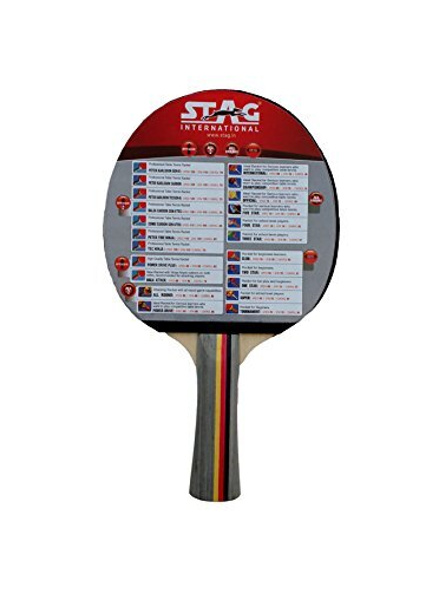 Stag All Round Table Tennis Racquet( Multi- Color, 180 Grams, Advanced )-1 Unit-1
