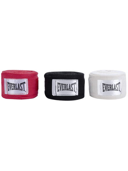 Everlast 4455-3-120 Boxing Hand Wraps-BLACK AND RED-1 Unit-2