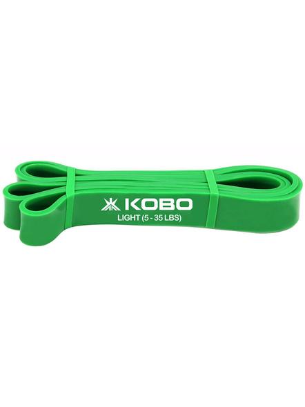 Kobo Power Latex Light Exercise Bands (ac-38), Green, 82 Inch-23723