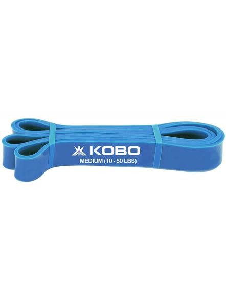 Kobo Power Latex Medium Exercise Bands (ac-39), Blue, 82 Inch-23724