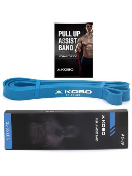 Kobo Ac-78 Power Loop Band/resistance Band/rubber Pull Up Assist Bands 41 Inch| Powerlifting Bands For Mobility & Body Stretching, Powerlifting, Resistance Training, Tension 65-175 Lbs, (black)-29868