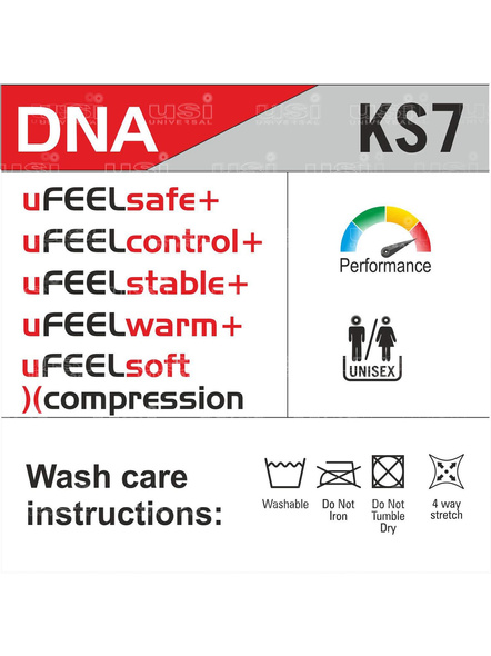 Usi Ks7-7mm Knee Sleeves Support For Fitness, Cross Training, Knee Injury- (1pc)-RED BLACK-XS-1