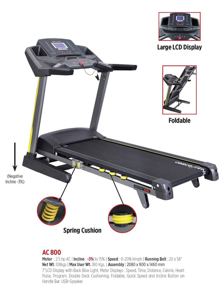 Cosco Ac-800 Motorised Treadmill-26114