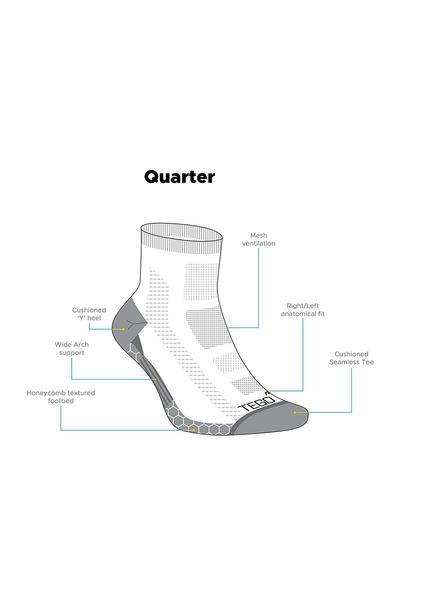 Tego Ts0253 Socks (colour May Vary)-Heather Green-M-2