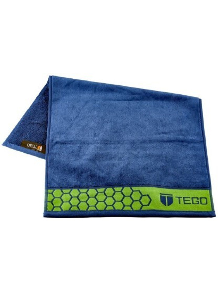 Tego Polyester 600 Gsm Sport Towel (colour May Vary)-Blue/green-1