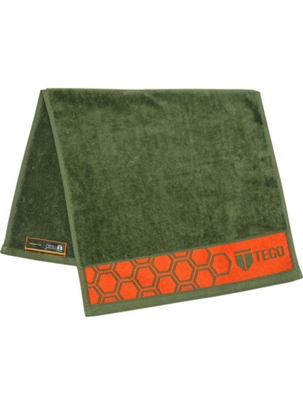 Tego Cotton 600 Gsm Sport Towel-Green /red-1