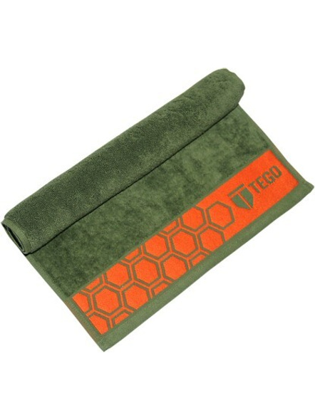 Tego Cotton 600 Gsm Sport Towel-Green /red-2