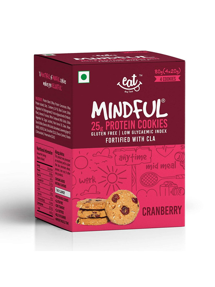 Eat Anytime Mindful Protein Cookies (80 G) Pack Of 4 Protein Bars-1619