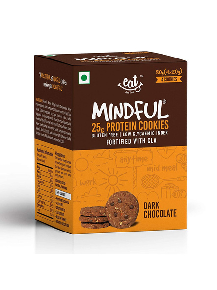 Eat Anytime Mindful Protein Cookies (80 G) Pack Of 4 Protein Bars-1074