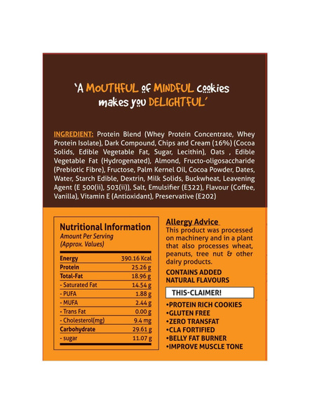 Eat Anytime Mindful Protein Cookies (80 G) Pack Of 4 Protein Bars-DARK CHOCOLATE-80 g-1