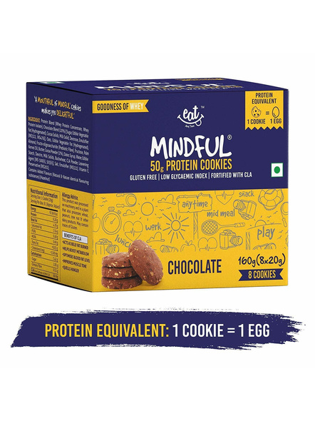 Eat Anytime Mindful Protein Cookies (80 G) Pack Of 4 Protein Bars-1104