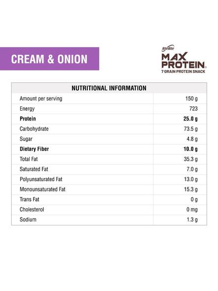 Ritebite Max Protein Chips 150g-CREAM AND ONION-150 g-2