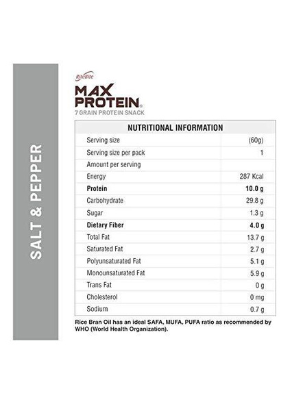 Ritebite Max Protein Chips 150g-SALT AND PEPPER-150 g-2