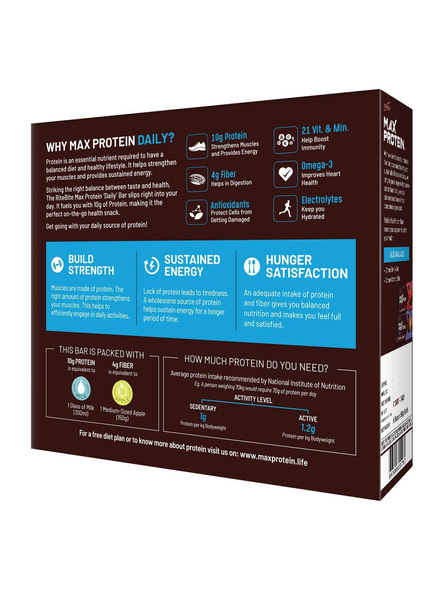 Ritebite Max Protein Daily Bars 300g - Pack Of 6 (50g X 6)-CHOCO CLASSIC-50 g-1