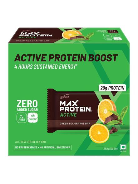 Ritebite Max Protein Active Bars 420g - Pack Of 6 (70g X 6)-799