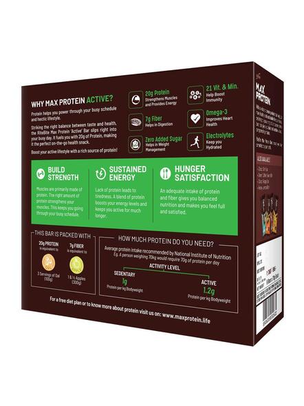 Ritebite Max Protein Active Bars 420g - Pack Of 6 (70g X 6)-GREEN TEA ORANGE-1