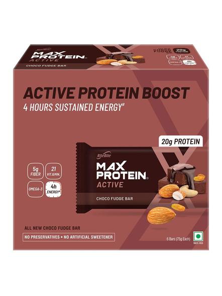 Ritebite Max Protein Active Bars 420g - Pack Of 6 (70g X 6)-110