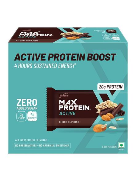Ritebite Max Protein Active Bars 402g - Pack Of 6 (67g X 6)-1385