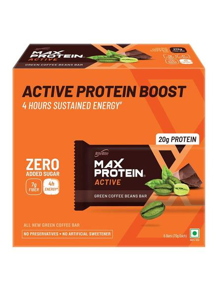 Ritebite Max Protein Active Bars 420g - Pack Of 6 (70g X 6)-232