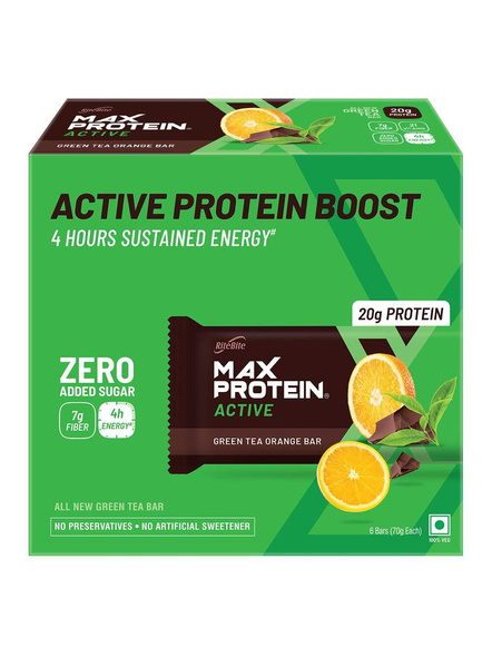Ritebite Max Protein Active Bars 420g - Pack Of 6 (70g X 6)-1161