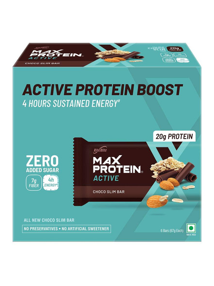 Ritebite Max Protein Active Bars 402g - Pack Of 12 (67g X 12)-126