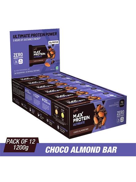 Ritebite Max Protein Ultimate Bars 1200g - Pack Of 12 (100g X 12)-CHOCO ALMOND-100 g-1