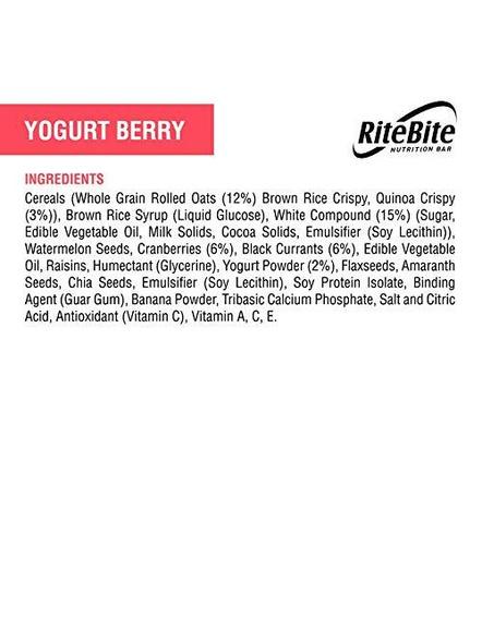 Ritebite Max Protein 480 G, Pack Of 12-YOGURT BERRY-2