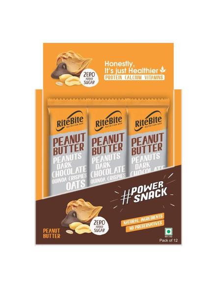 Ritebite Max Protein 480 G, Pack Of 12-PEANUT BUTTER-1