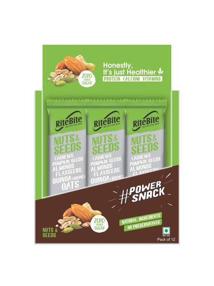 Ritebite Max Protein 480 G, Pack Of 12-NUTS AND SEEDS-1