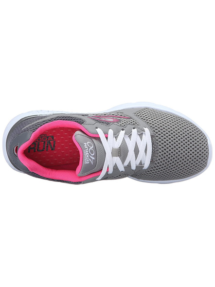 SKECHERS 14350 WOMENS SPORTS SHOES-CHARCOAL/HOT PINK-7-1