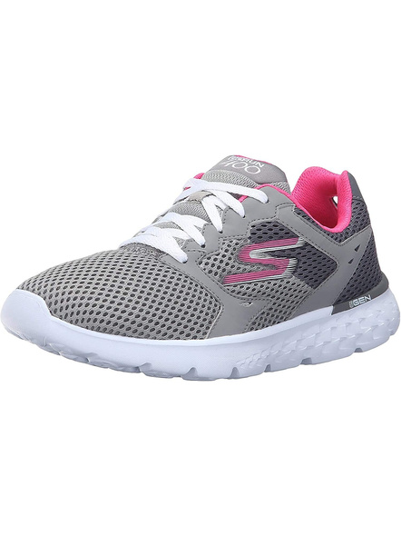 SKECHERS 14350 WOMENS SPORTS SHOES-CHARCOAL/HOT PINK-7-2