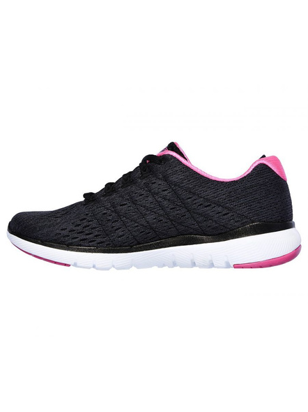 SKECHERS 13064 WOMENS SPORTS SHOES-BLACK/HOT PINK-6-2