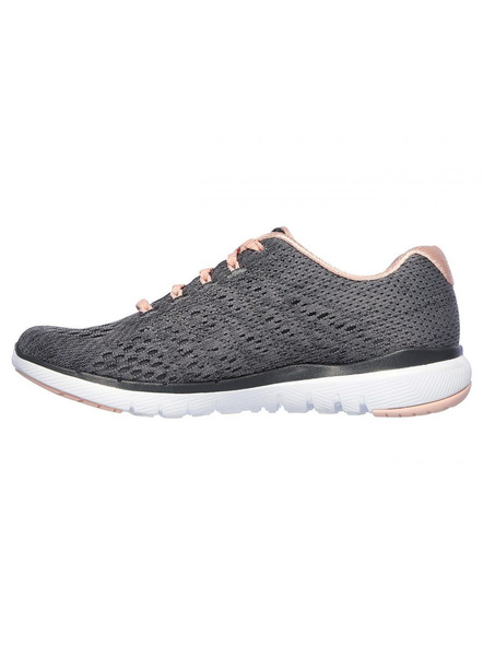 SKECHERS 13064 WOMENS SPORTS SHOES-CHARCOAL/PINK-4-2