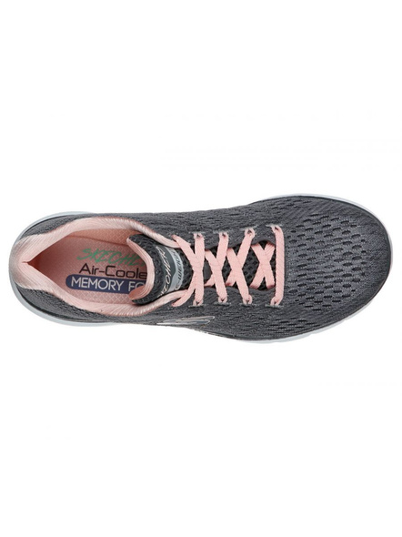 SKECHERS 13064 WOMENS SPORTS SHOES-CHARCOAL/PINK-7-1