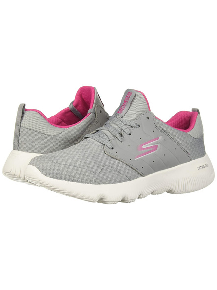 SKECHERS 15162 WOMENS SPORTS SHOES-GREY PINK-4-2