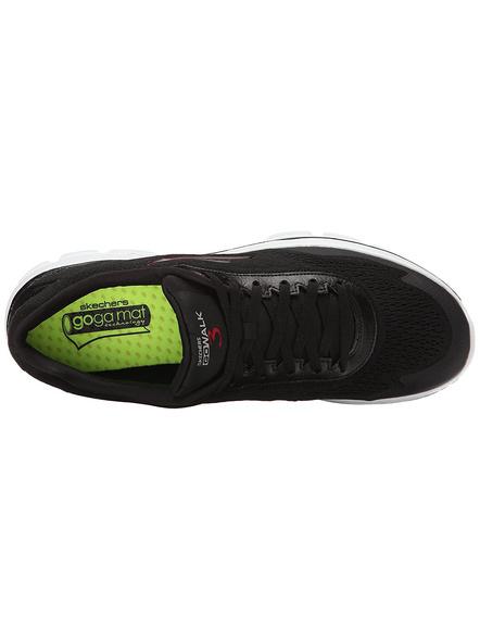 Skechers Men's Go Walk3- Reaction Nordic Walking Shoes-10-BLACK & WHITE-1