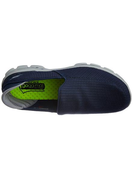 Skechers Men's Go Walk 3 Mesh Nordic Walking Shoes-NAVY/GREY-6-1