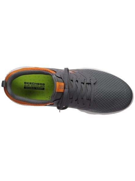 Skechers Men's Go Run Focus-Athos Shoes(Colour May Vary)-CHARCOAL/ORANGE-9-1